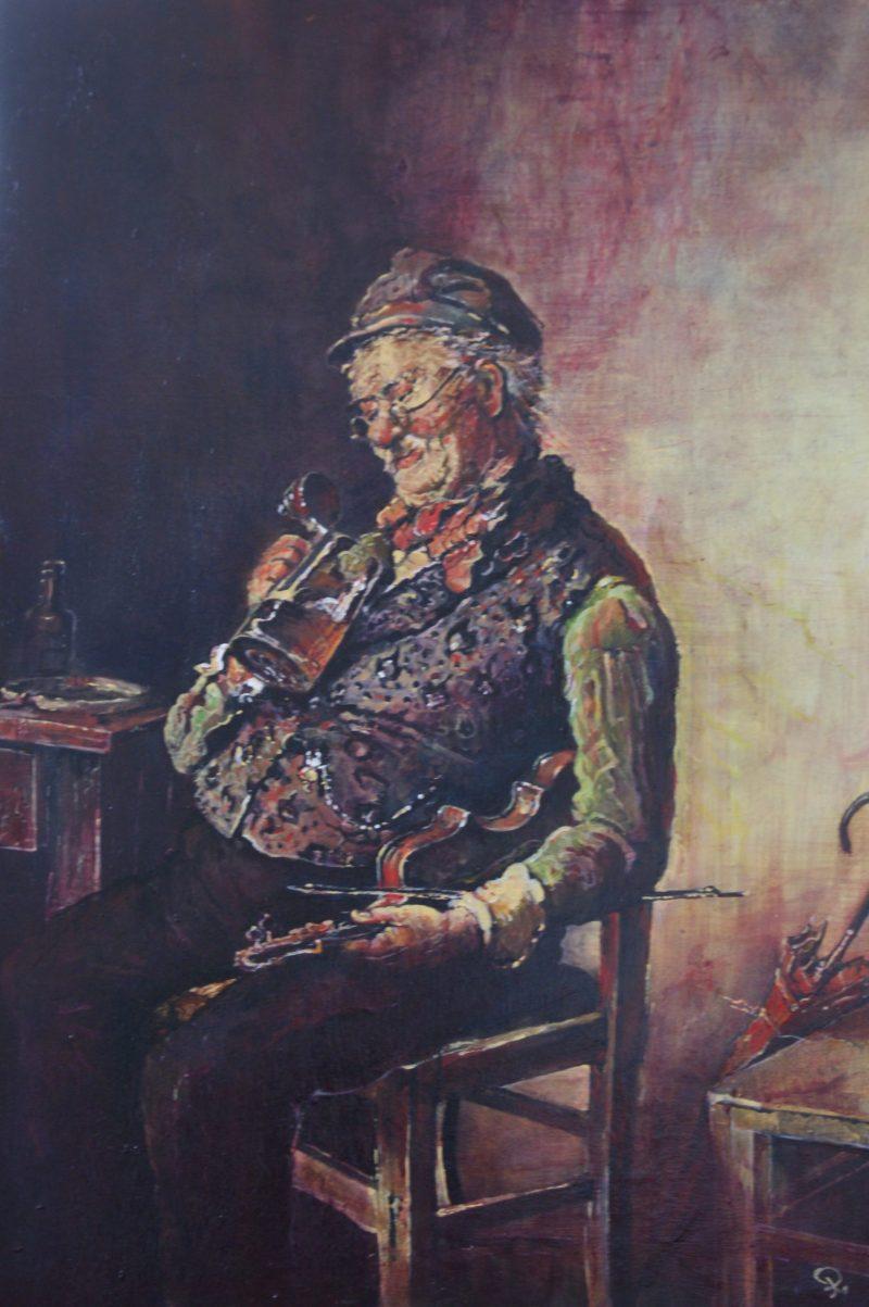 De oude violist - Piet van der Zee