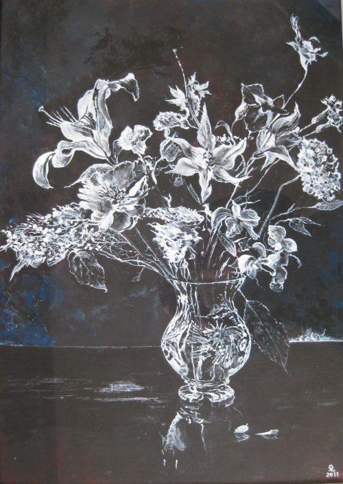 Bloemen Wit-Zwart - Piet van der Zee