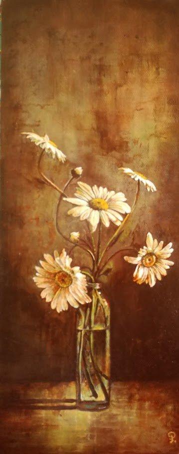 Bloemen in glas - Piet van der Zee