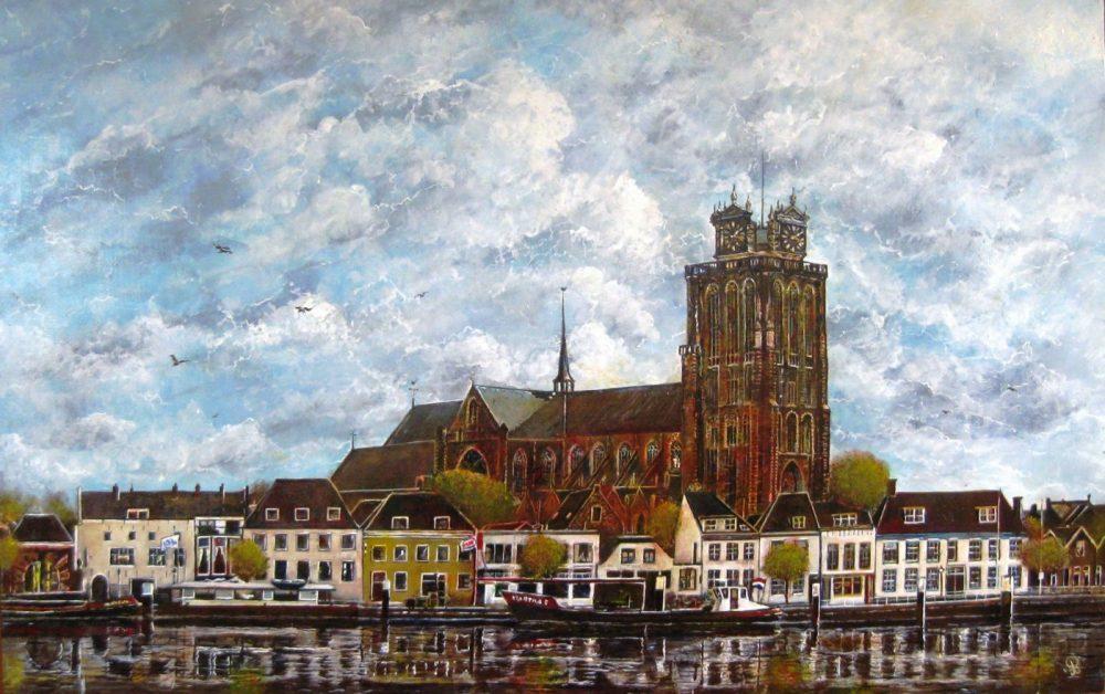 Gezicht op Dordrecht - Piet van der Zee