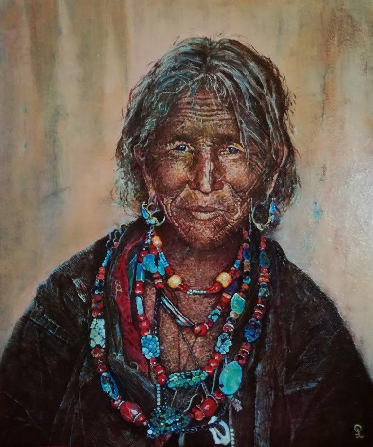 Indiaanse vrouw - Piet van der Zee