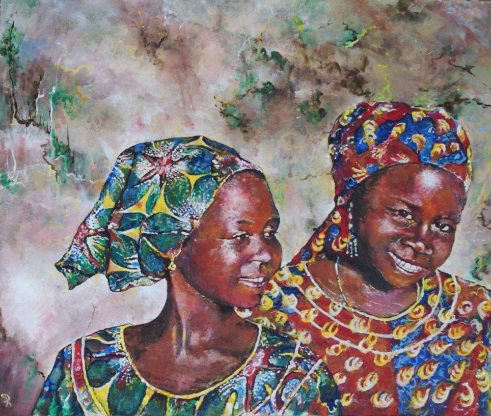 Twee Afrikaanse meiden - Piet van der Zee