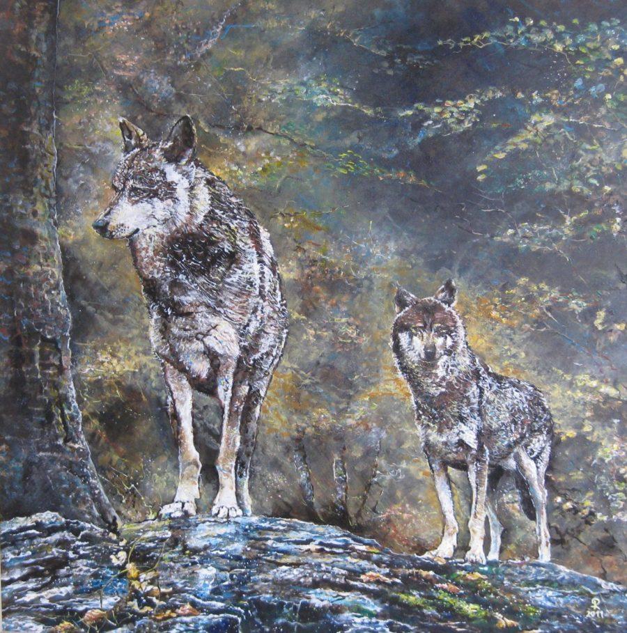 Twee wolven - Piet van der Zee